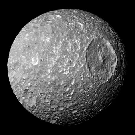 Mimas seen by Cassini. © NASA / JPL-Caltech / Space Science Institute