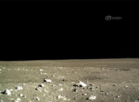 First images of lunar landscape from Chang'e 3 lander, December 15, 2013