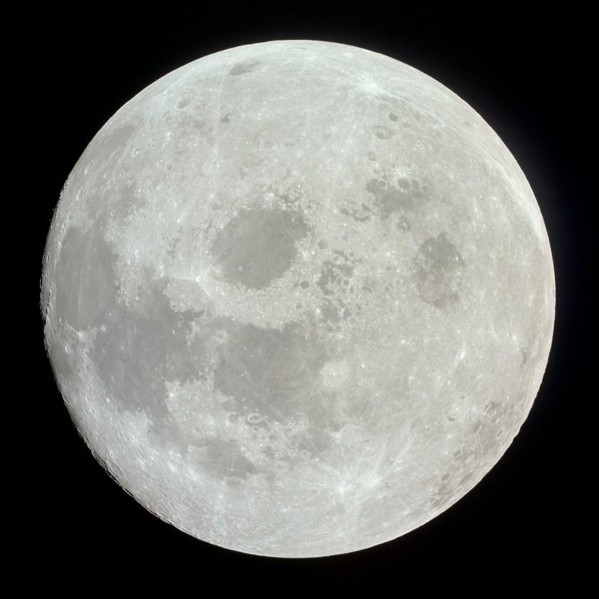 Apollo 11 image of a nearly full Moon   The Planetary Society