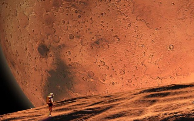 astronaut on Phobos