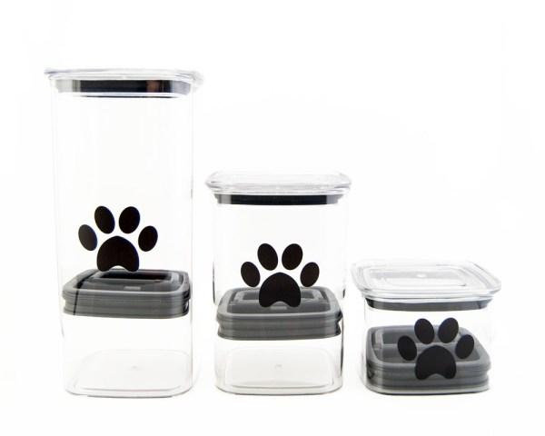 Photo of Airscape canisters for pets in three sizes