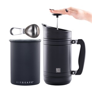Photo of the Brew At Home Bundle in black - Airscape, 32oz. French Press and Coffee Scoop