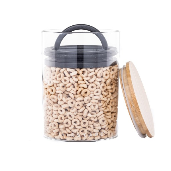 Photo of glass Airscape seal container filled with Cheerios