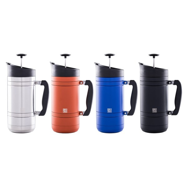 Photo of all colors of BruTrek insulated French press