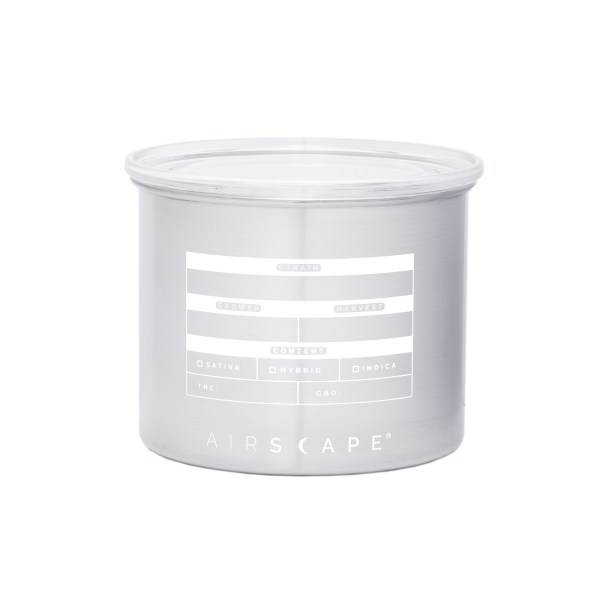 Back view photo of Cannascape storage canister