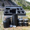 photo of coffee expedition kit with black products in front of case with removable foam