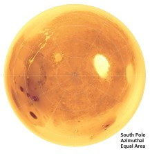 south pole lambert azimuthal equal area