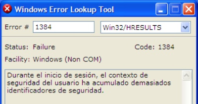 Averigua los Codigos de error en Windows