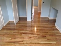 Upstairs Bedroom After  Red and White Oak  Maple Leaf ...