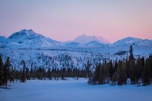 Denali in the winter