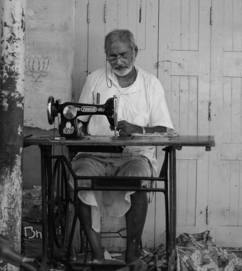 tailor working in Pushkar