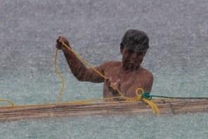 Pantai Bira Fisherman in the Rain