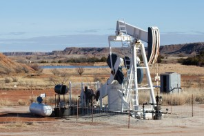 Ubiquitous Oil Rig in Oklahoma