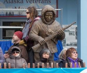 Iditarod spectators.