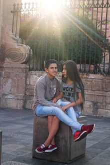 Young lovers in Morelia