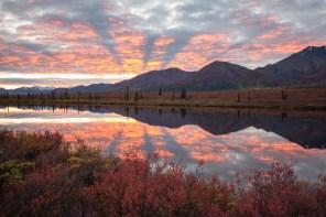 Broad pass sunset
