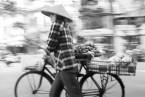 hanoi street photo black white