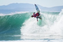 Current equal No. 3 on the Jeep Leaderboard Owen Wright of Australia advances to Round Three of the Corona Open J-Bay after defeating rookie Ethan Ewing of Australia in Heat 3 of Round Two in pumping Supertubes, Jeffreys Bay, South Africa.