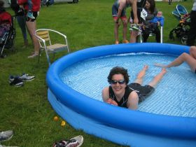 Chilling in the cool-down pool!