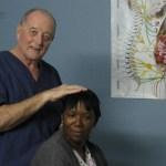 Chiropractor Harvey Adjusting