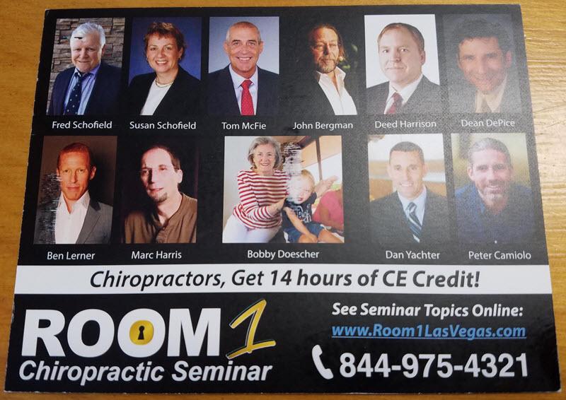 room 1 chiropractic seminar 2019