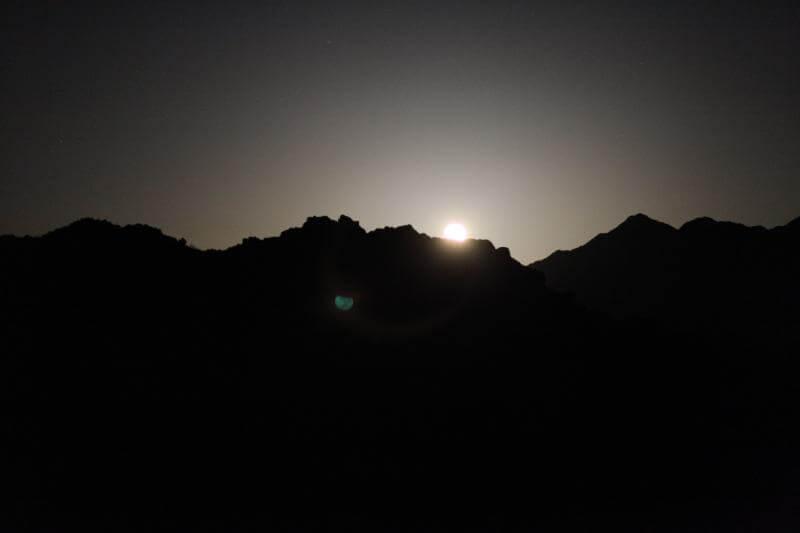 Chuckwalla Mountains Moonrise