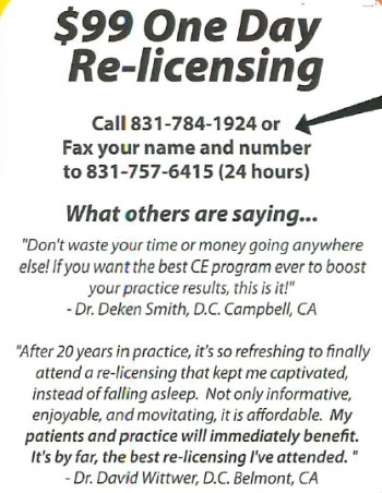 $99 One Day Re-licensing