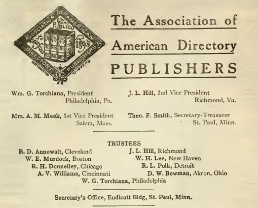 Association American Directory of Publishers