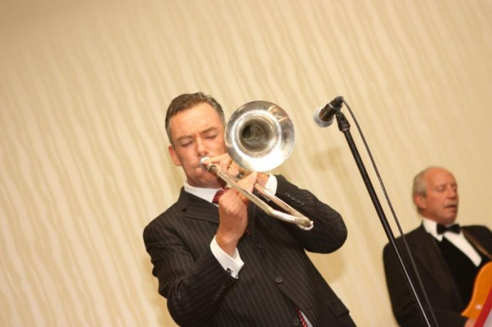 Brian Kelly Playing Trombone