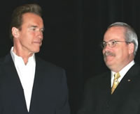 Governor Schwarzenegger and Dr Maltby