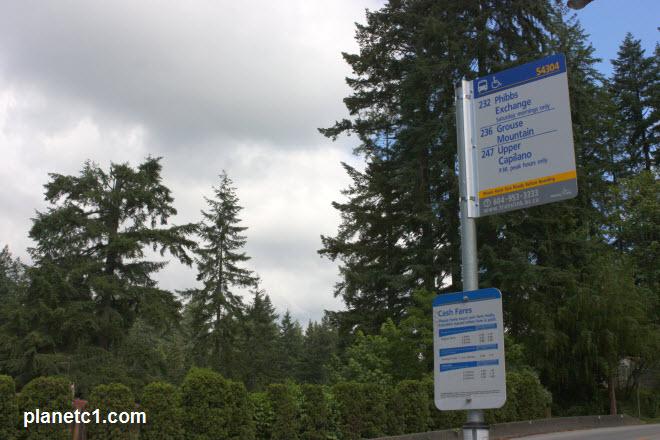 Grouse Mountain Bus Route