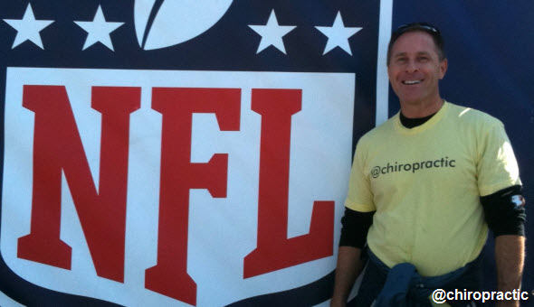Chiropractor Michael Dorausch at Super Bowl