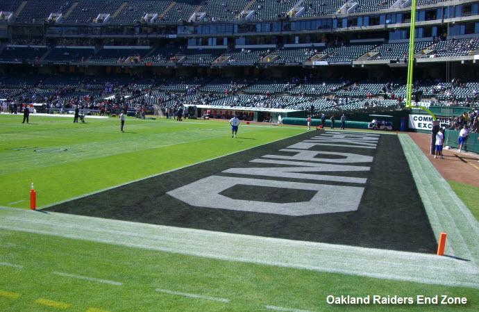 Oakland Raiders End Zone