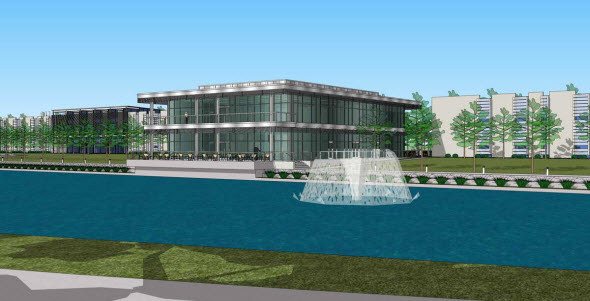 Conceptual drawing of the new third building on Palmer's Florida Campus