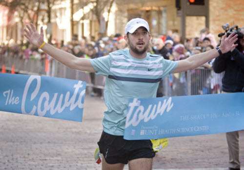 Logan Sherman of Parker College of Chiropractic wins Cowtown Marathon