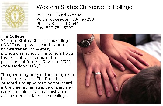 Western States Chiropractic College in Portland Oregon