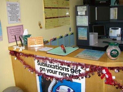 front desk chiropractic office