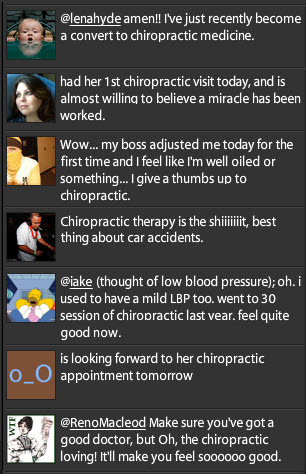 Chiropractic Tweets on Twitter March 23 and March 24