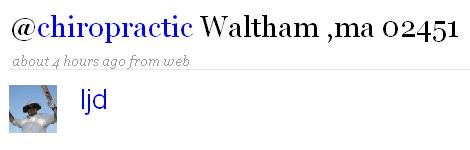 chiropractic waltham