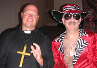 Chiropractors Bobby Braile and BJ Harmen at 2005 Halloween party