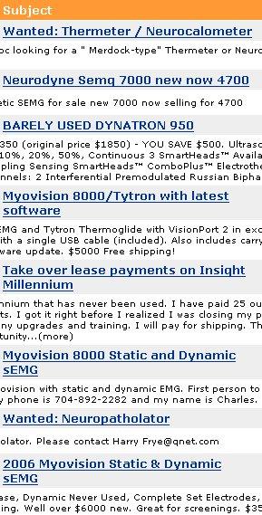 classifieds myovision 8000