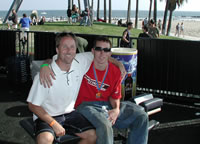 Greg Andreoli with his chiropractor Dr. Michael Dorausch of Venice, CA