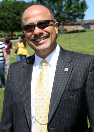 Dr. Ed Cordero on the Lawn at Sherman College