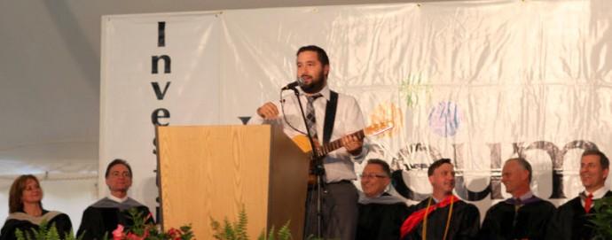 John Cordero performs at Sherman Lyceum