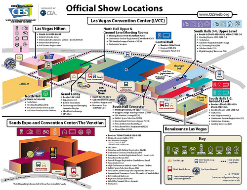 CES 2009 - Official Show Locations