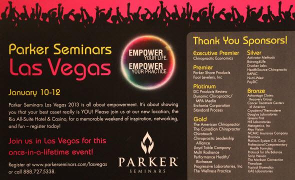 Parker Seminars Las Vegas 2013