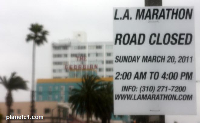 road closed la marathon