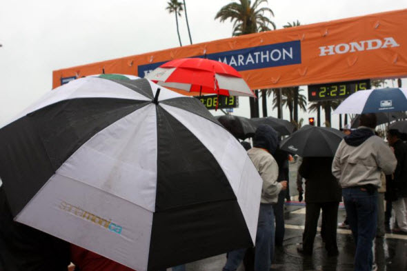 Santa Monica Umbrella at LA Marathon
