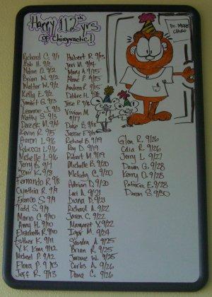 September birthday board