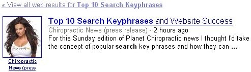 Top 10 search key phrases